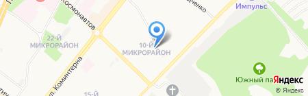 Магазин продуктов на ул. 10-й микрорайон на карте Ангарска