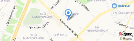 Мастерская по ремонту обуви на ул. 7-й микрорайон на карте Ангарска