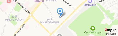 АвтоСибРегион на карте Ангарска