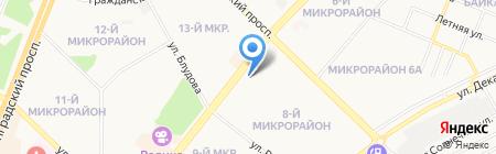 Центральное на карте Ангарска