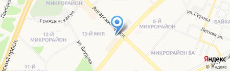 Фарн на карте Ангарска