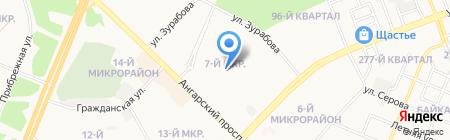 Детский сад №53 на карте Ангарска