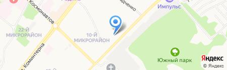 Кристалл на карте Ангарска