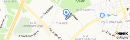 Институт Горпроект на карте Ангарска