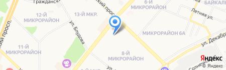 Детский сад №92 на карте Ангарска