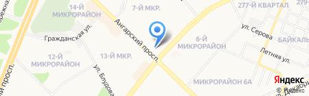 Азиатско-Тихоокеанский Банк на карте Ангарска