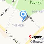 Акварель на карте Ангарска