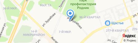Лона на карте Ангарска