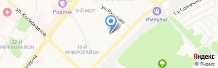 Кристина на карте Ангарска