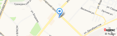 Территория отдыха на карте Ангарска