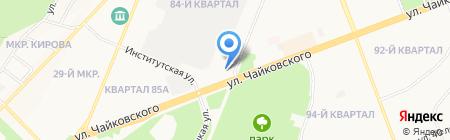 Энфорта на карте Ангарска