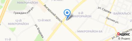 Легионер на карте Ангарска