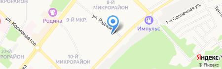 Данко на карте Ангарска