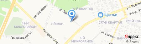 Средняя общеобразовательная школа №4 на карте Ангарска