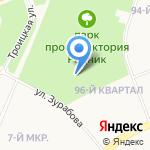 Родник на карте Ангарска