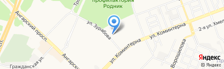 Фонд социального страхования РФ на карте Ангарска