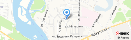 Школа-интернат №1 на карте Ангарска