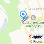 Аллея Любви на карте Ангарска