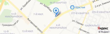 Шалаш на карте Ангарска