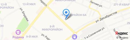 Хамелеон на карте Ангарска