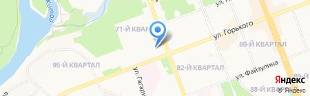Автостоянка на ул. 71-й квартал на карте Ангарска