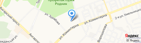 Автомойка на ул. 96-й квартал на карте Ангарска