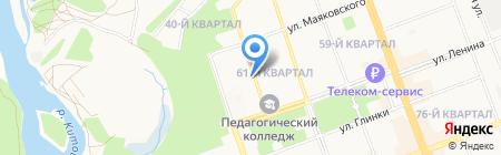 Эссен на карте Ангарска
