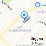 Роспив на карте Ангарска