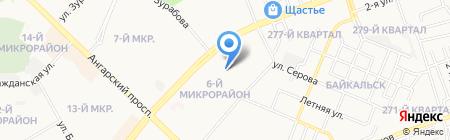 Дева на карте Ангарска