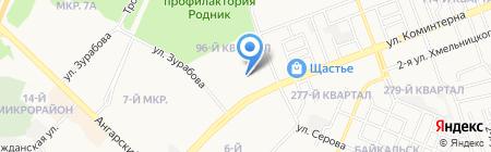 Шиномонтажная мастерская на ул. 96-й квартал на карте Ангарска