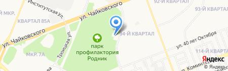 Ангарский на карте Ангарска