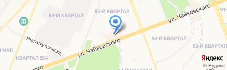 Мех+Одежда на карте Ангарска