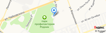 Национальная почтовая служба-Байкал на карте Ангарска