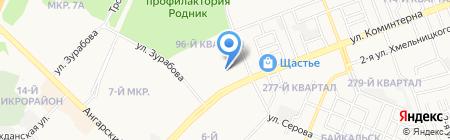 Ангарский техникум строительных технологий на карте Ангарска
