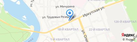 Недр на карте Ангарска