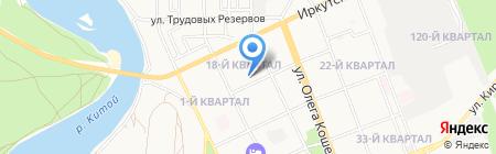 Детский сад №85 на карте Ангарска