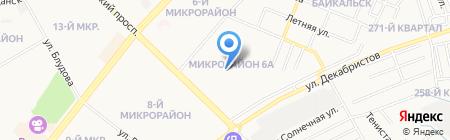 Детский сад №49 на карте Ангарска