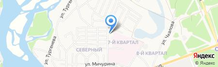 Ангарское автохозяйство здравоохранения на карте Ангарска