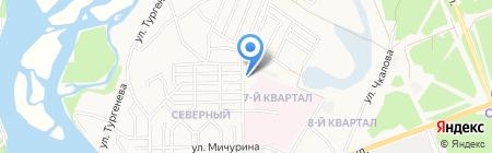 Шиномонтажная мастерская на ул. Покрышкина на карте Ангарска