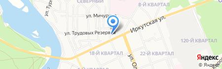 Старый город на карте Ангарска