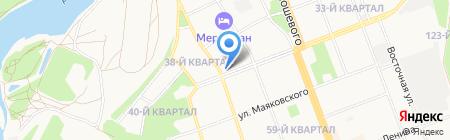 Пилот на карте Ангарска