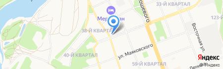 Иркутский на карте Ангарска