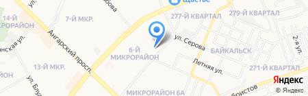 Детский сад №55 на карте Ангарска