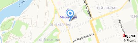 Парикмахерская на карте Ангарска
