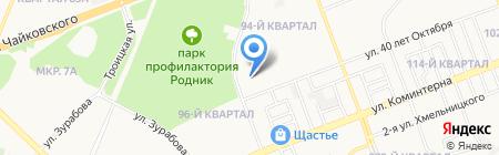 Средняя общеобразовательная школа №38 на карте Ангарска