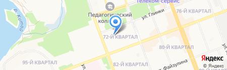 Средняя общеобразовательная школа №31 на карте Ангарска