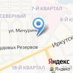Северный на карте Ангарска
