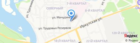 Кобра на карте Ангарска