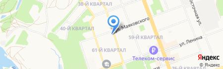 Ангарский банно-прачечный комплекс на карте Ангарска