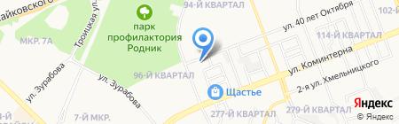 Сауна на Крупской на карте Ангарска